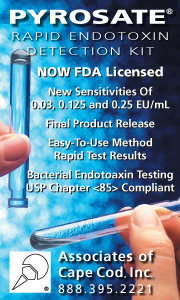 Associates of Cape Cod - Pyrosate Endotoxin Detection Kit - Now FDA Licensed!