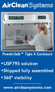 Airclean Systems Powdersafe Type A Enclosure
