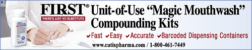FIRST 'Magic Mouthwash' Compounding Kits. Fast, Easy, Accurate, Barcoded Dispensing Containers. www.cutispharma.com