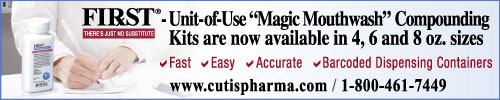 FIRST 'Magic Mouthwash' Compounding Kits Now in 4, 6 and 8 oz sizes. Fast-Easy-Accurate-Barcoded Dispensing Containers
