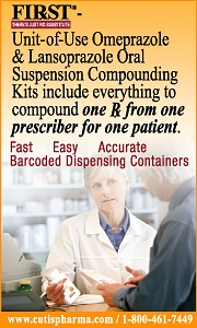 FIRST Omeprazole & Lansoprazole Oral Suspension Compounding Kits-everything to fill 1 Rx from 1 prescriber for 1 patient